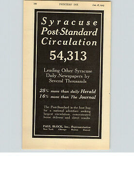 1923 Paper Ad Newspaper Syracuse Post Standard Press Herald Portland Maine