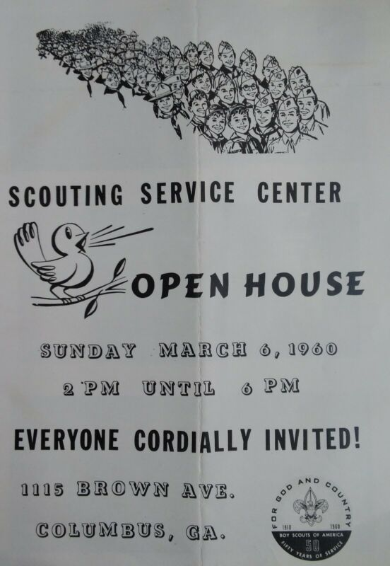 Columbus GA Boy Scouts Headquarters Opening VTG 1960 Pamphlet 1115 Brown Ave