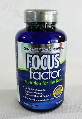 FOCUSfactor Nutrition for the Brain Dietary Supplement, 180 Tablets Exp: 09/2023