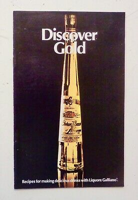 Liqueur Drink Recipes - Vintage 1970s GALLIANO Liqueur - Retro Cocktail Recipe Book BAR DRINKS GUIDE