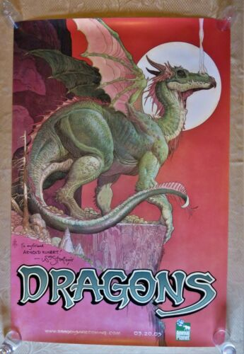 DRAGONS~2005 TV SPECIAL POSTER SIGNED BY WILLIAM STOUT! RARE & BEAUTIFUL!