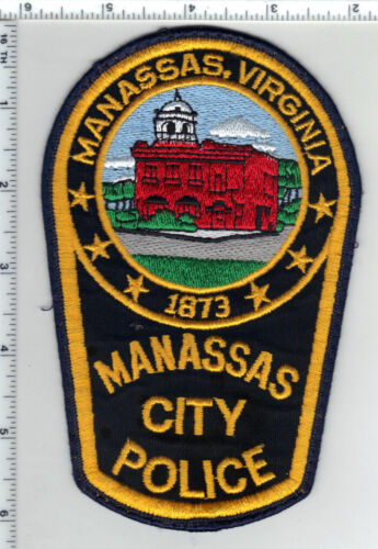Manassas City Police (Virginia) Uniform Take-Off Shoulder Patch from the 1980