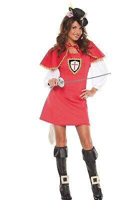Sexy Adult Womens Halloween Puss in Boots Musketeer Costume w Sword Size S/M - Puss In Boots Costume Adult