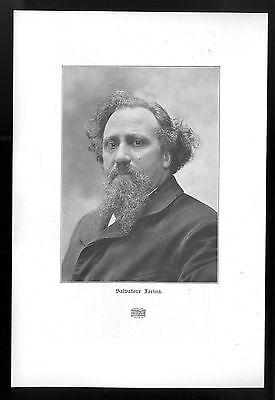 Salvatore Farina Der italienische Schriftsteller und Redakteur Kunstdruck v.1906
