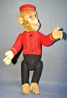 VINTAGE EARLY SCHUCO YES-NO MONKEY BELL HOP 15 TALL GOOD CONDITION - $115.00