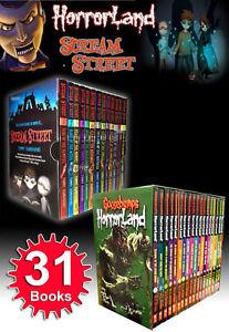 Goosebumps HorrorLand Series & Scream Street Collection 31 Books Set Box Gift