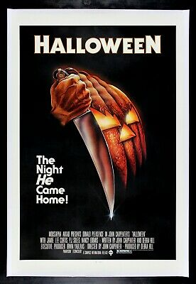 HALLOWEEN ✯ CineMasterpieces 1978 RARE BLUE RATINGS BOX ORIGINAL MOVIE POSTER](Halloween Movies Ratings)