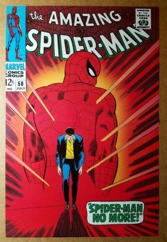 Amazing Spider-Man 50 Marvel Comics Poster by John Romita Sr