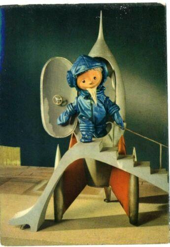 1960 Space Rocket Unser Sandmännchen German DDR TV show photo postcard