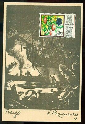 TOBAGO COURLAND BAY by N.PUZIREVNSKIJ PMK TRINIDAD DZELZKALEJS USA LATVIAN EXILE