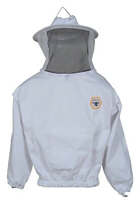 Beekeeping Protective Jacket Veil Dress Suit Pull Hat Smock Equipment M L Xl