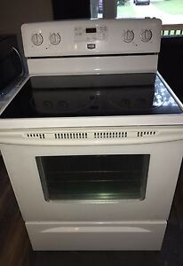 Maytag self cleaning glass top oven range stove