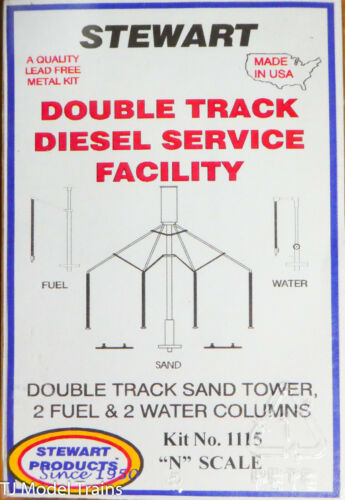 Stewart N Scale #1115 Double Track Diesel Service Facility, kit (White Metal)