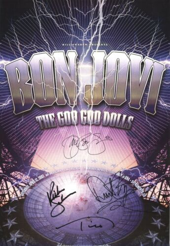 Bon Jovi HAND SIGNED Rex Ray concert poster, From the Rex Ray Estate