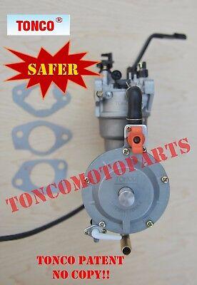 Safer dual fuel carburetor 190F generatorGX420 manualchoke Propane/LPG TONCO
