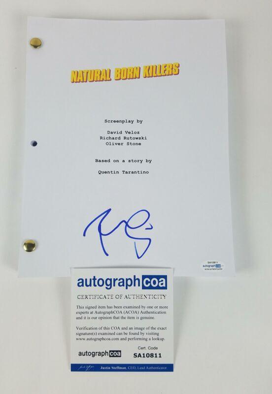 Robert Downey Jr. Autograph Signed Screenplay Script Natural Born Killers ACOA