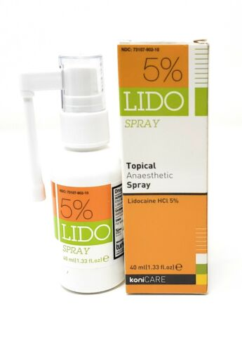 Lido 5% Lidocaine Spray Pain Relief. Topical Numbing Anesthetic 40ml/1.33 fl oz