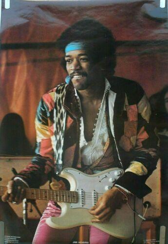 RARE JIMI HENDRIX 1977  VINTAGE ORIGINAL GUITAR MUSIC POSTER