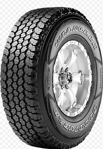 Set of 4 275/55 R20 Goodyear Wranglers