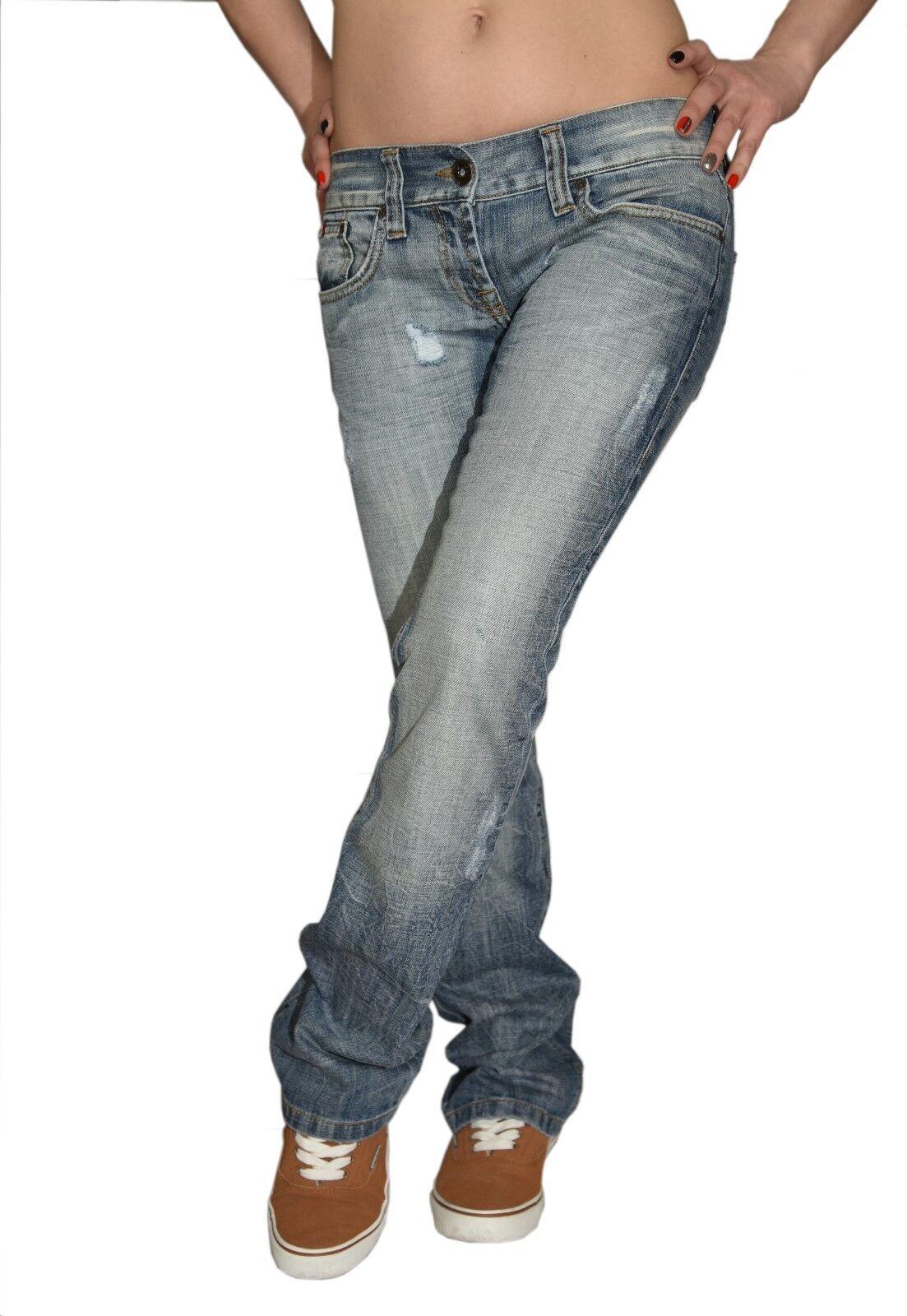 Mädchen Jeans Hüfthose Bootcut Hellblau Gr. W24-W26 158 164 XXS Decon-7787-