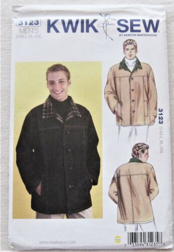 Jacket Sewing Pattern*Kwik Sew 3123* Mens Sizes S-XXL*coat*button*winter*fall