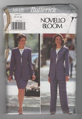 BUTTERICK 3848 pattern pant skirt jacket Noviello Bloom sz 12 14 16 uncut