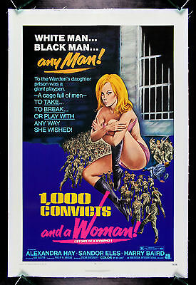Girl Convicts (1000 CONVICTS AND A WOMAN * CineMasterpieces ORIGINAL MOVIE POSTER BAD GIRL)