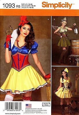 Corset Snow White Costume (Simplicity 1093 Cosplay Sewing Pattern Snow White Fairy Corset Size 14-22 Uncut)