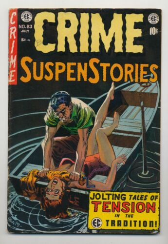 Crime Suspenstories #23 1954 VG 4.0 George Evans Cover Senate Investigation  EC