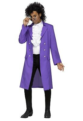 Purple Rain Prince Rocking 80's Pop Singer Adult Costume