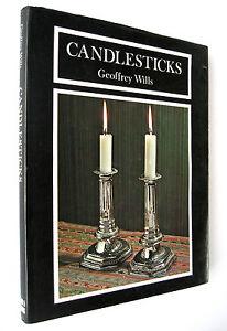 Book-Antique-Candlesticks-History-1974-1st-Edition-H-B-D-J-Geoffrey-Wills