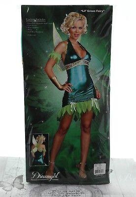 Halloween Fairy Costumes Uk (DreamGirl Lil Green Fairy Halloween Costume Green Style 5886 X-Large)