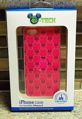 New Disney Parks MINNIE Icon Quilted iPhone 5 Smartphone Cell Phone Clip Case