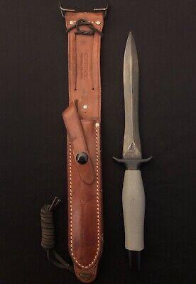 1968 Vietnam War Gerber Mark II Fighting Knife/RARE GERBER BLUING KIT Applied/lw