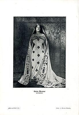 Berta Morena, in ihren Rollen als Elisabeth * Brünnhilde * Santuzza v.1911