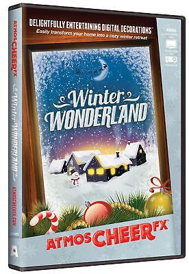 Atmoscheerfx Winter Wonderland DVD Holiday Display Digital Decorations - Winter Wonderland Props