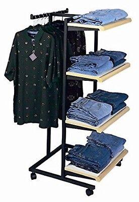 Only Hangers Designer 410 Combination Rack w/ Maple Shelves