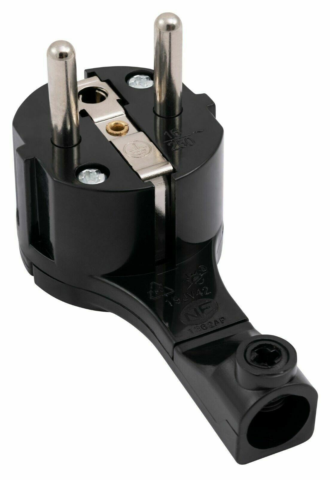 Schukostecker mit Schalter & Winkelstecker 32