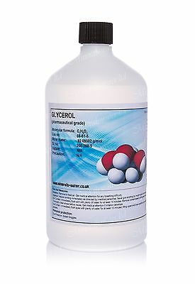 1L 1000ml GLYCEROL•GLYCERINE•Pharmaceutical grade•BP/VG•vegetable•