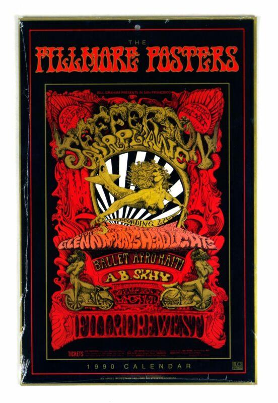 Bill Graham Fillmore 1990 Calendar Poster Original Vintage