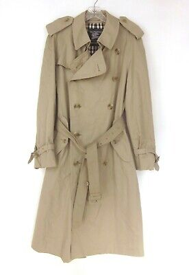 Vintage Burberry Classic Trench Coat 40R Check Lining Made for Bloomingdale's