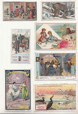 Konvolut 19 Sammelbilder Kaufmannsbilder Hartwig & Vogel Dresden um 1900 - 1910