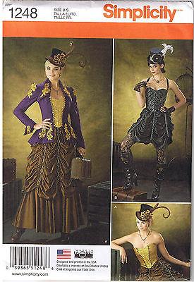 Viktorianisch Steampunk Jacke Bustier Rock Kostüm Nähen Muster Größe 6 8 10 12