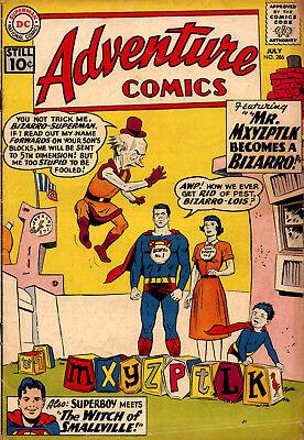 ADVENTURE #286-1ST BIZARRO MXYZPLK: BIZARRO COVER!  KEY ISSUE!