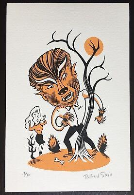 RICHARD SALA Dr. Gruesome's Gallery Of Ghouls Art Halloween Artist Artwork