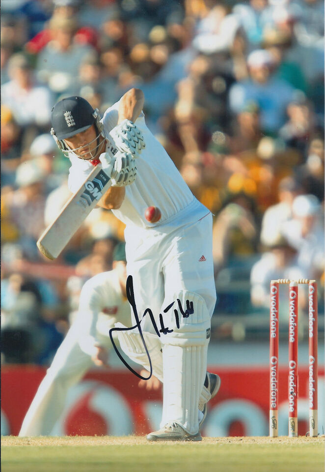 Jonathan TROTT Signed Autograph 12x8 Photo AFTAL COA England CRICKET ASHES