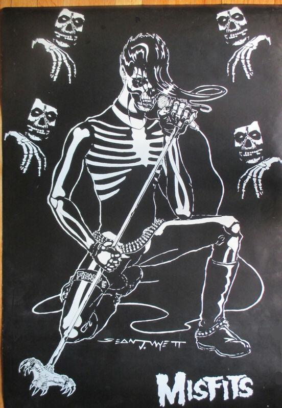 "Misfits Poster Rare Skeleton poster !  24"" X 35""  !"