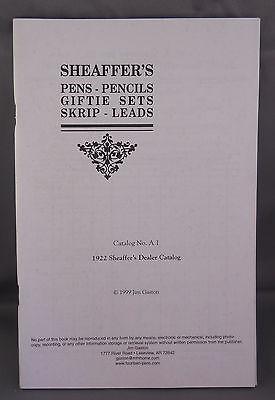 Sheaffer Reproduction l922 Dealer Catalog