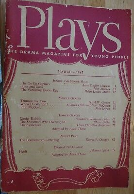 March 1967 Plays The Drama Magazine for Young People Volume 26 No 6 Book