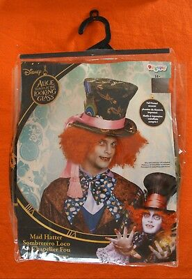 NIP Tim Burton Alice In Wonderland Mad Hatter Halloween Costume Hat (HAT ONLY) - Mad Hatter Tim Burton Costume